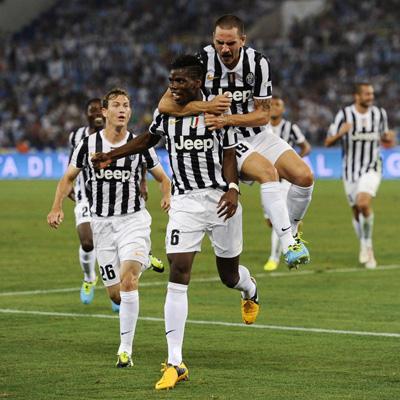 Пол Погба след гола си срещу Лацио